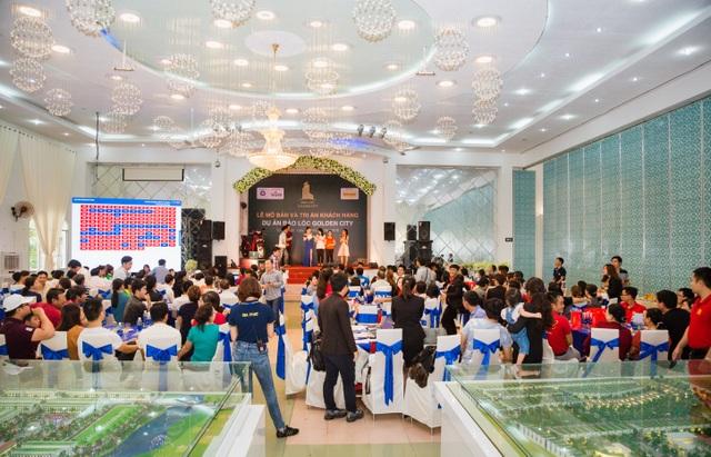 Hơn 250 khách hàng tham gia lễ mở bán dự án Bảo Lộc Golden City