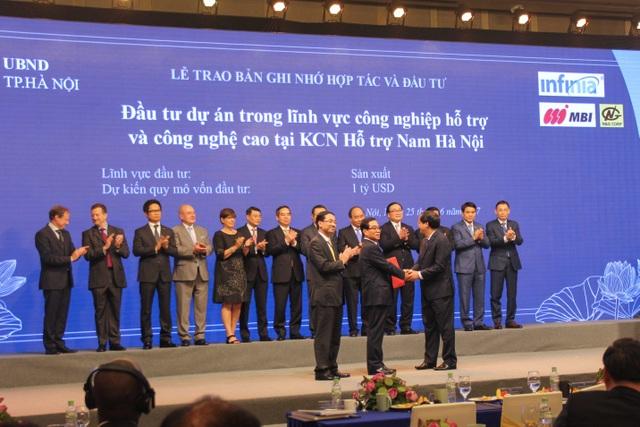 Lễ trao bản ghi nhớ hợp tác và đầu tư tại dự án