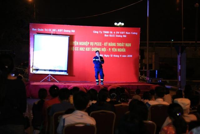 Tập đoàn Nam Cường thường xuyên tổ chức các buổi tập huấn nghiệp vụ PCCC – kỹ năng thoát nạn cho các cụm cư dân tại các khu đô thị