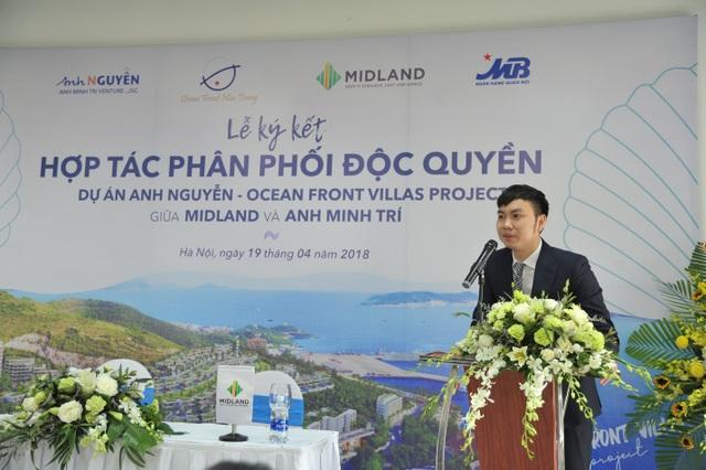 Ông Nguyễn Văn Công – Tổng Giám Đốc Midland phát biểu tại sự kiện