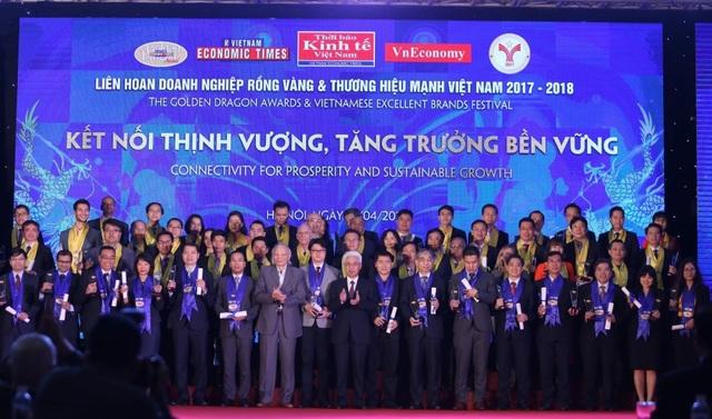 Gần 100 doanh nghiệp FDI nhận giải thưởng Rồng Vàng 2017-2018