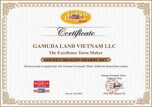 Gamuda Land Việt Nam vinh dự nhận Giải thưởng Rồng Vàng 2017-2018 - 3