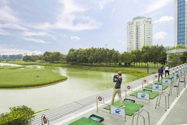 Sân tập Golf 38 làn thuộc Khu phức hợp Thể thao giải trí và ẩm thực Ciputra Club
