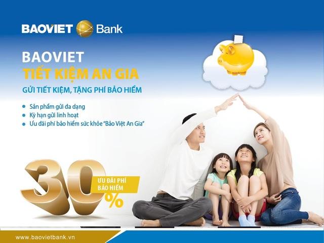 Chương trình BAOVIET Tiết kiệm An Gia – Gửi tiết kiệm, tặng phí bảo hiểm với các loại sản phẩm tiền gửi đa dạng