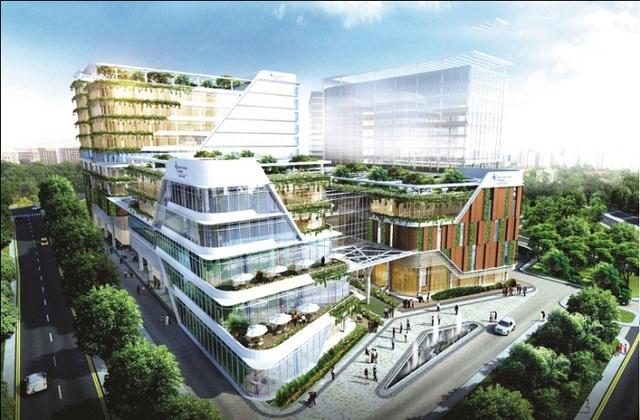 """Khai Sơn City – """"thành phố thu nhỏ"""" bên kia sông Hồng"""
