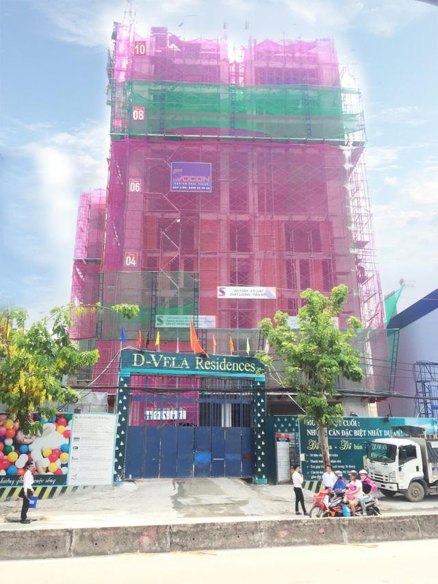 Hình ảnh thực tế dự án D- Vela đang xây dựng.