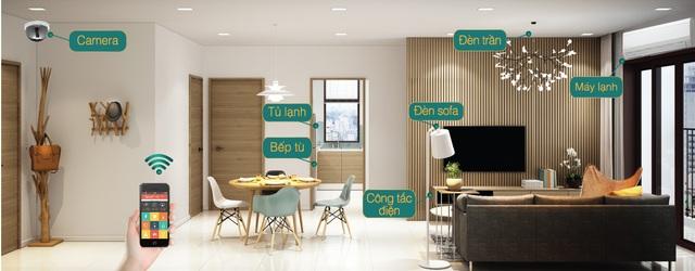 Cách bày trí căn hộ D- Vela khá hiện đại, thông minh và hài hòa.