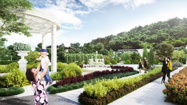 Phối cảnh công viên dự án Royal Streamy Villas