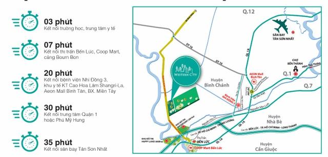 Khu đô thị Western City sở hữu vị trí đắc địa thu hút đông đảo khách hàng