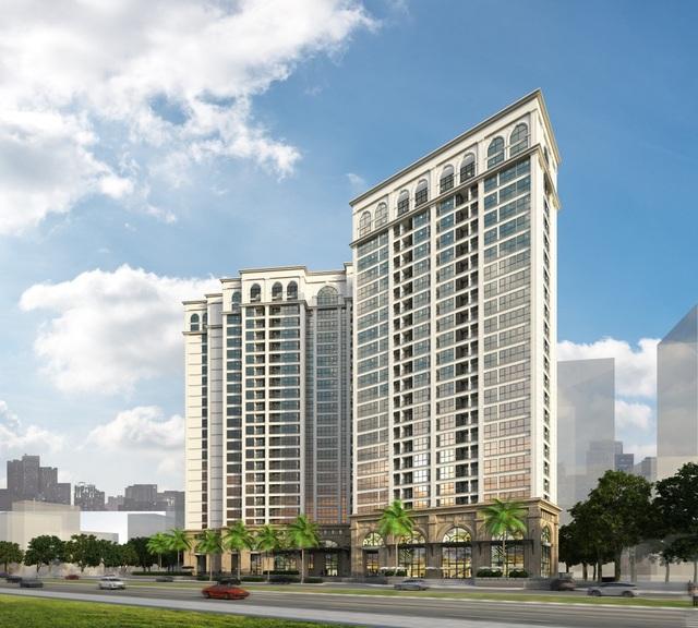 Phối cảnh minh họa ngoại thất dự án Hanoi Aqua Central