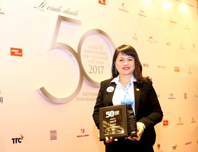 Bảo Việt được vinh danh trong Top 50 công ty kinh doanh hiệu quả nhất Việt Nam