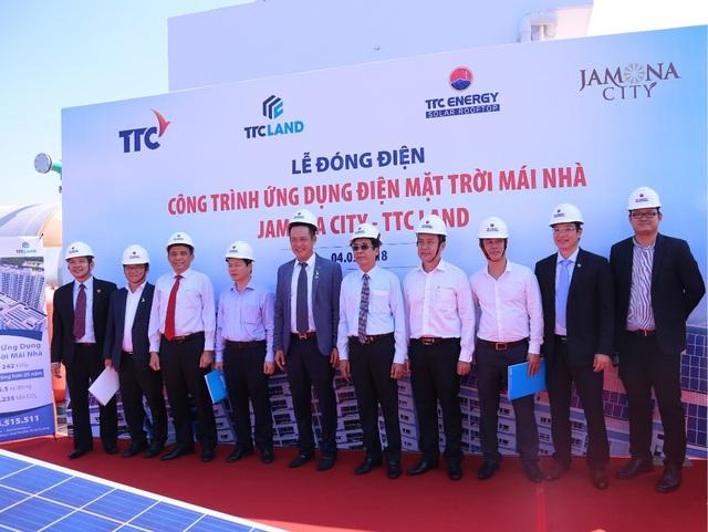 """Công trình NOXH Jamona City do TTC Land phát triển với quy mô hơn 1000 căn hộ sử dụng """"Năng lượng xanh"""" điện mặt trời."""