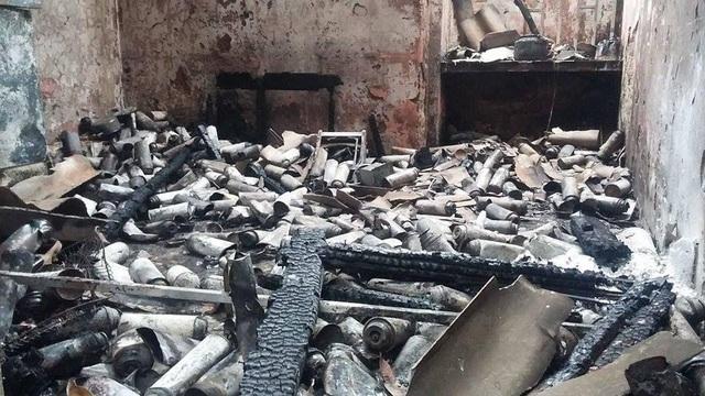 Quang cảnh sau vụ nổ của một đơn vị chiết xuất gas trái phép