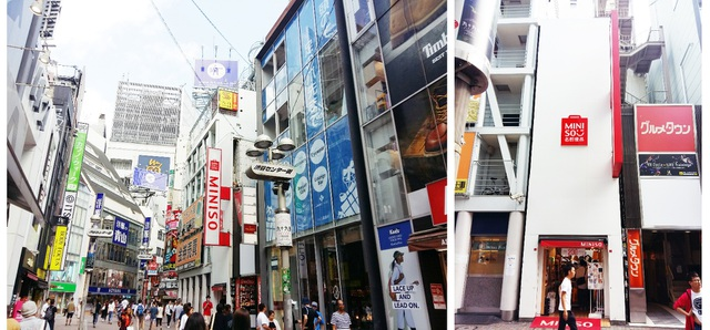 Hình ảnh cửa hàng Miniso tại Shibuya – Tokyo, Nhật Bản