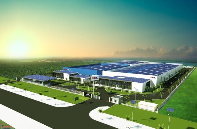 Hình ảnh phối cảnh Tổ hợp nhà máy sản xuất thiết bị năng lượng tái tạo công nghệ cao IREX