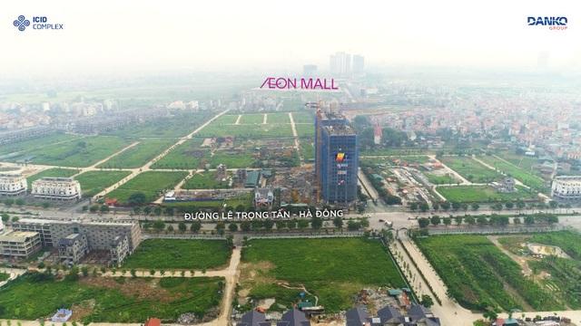 AEON Mall Hà Đông nằm trên trục đường Ngô Thì Nhậm kéo dài, cách dự án ICID Complex chưa đầy 1km.