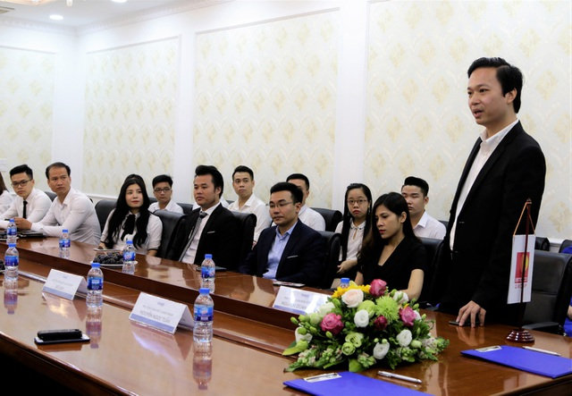 Ông Nguyễn Quang Thịnh – Đại diện CĐT phát biểu tại Lễ kí kết