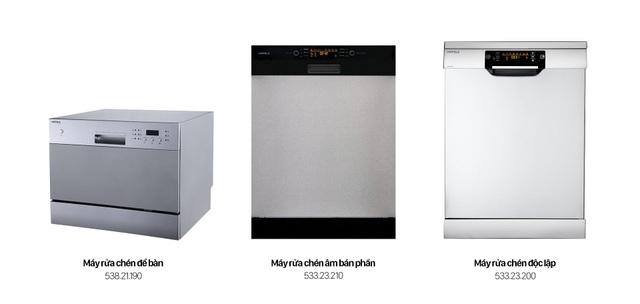 Häfele cung cấp 3 dòng sản phẩm với công suất hoạt động có thể làm sạch từ 6 – 15 bộ chén đĩa trong một lần rửa, đáp ứng nhu cầu khác nhau của mỗi hộ gia đình.