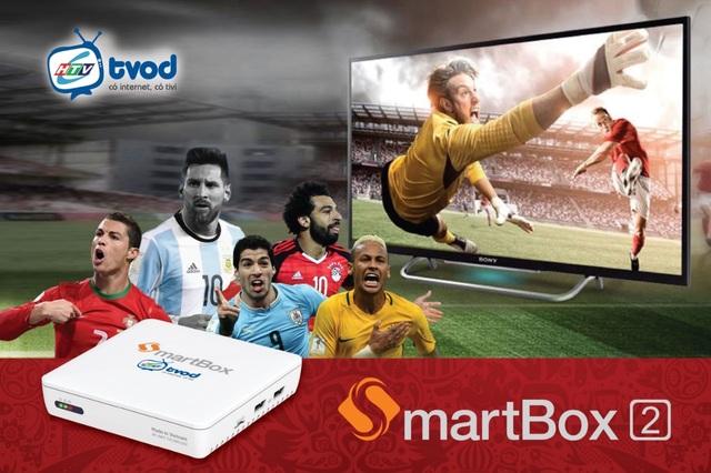 Là đối tác chiến lược của HTV – TMS, SmartBox 2 của VNPT Technology sẽ có toàn quyền tiếp sóng tất cả các trận cầu trong khuôn khổ World Cup 2018