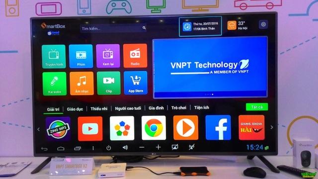 Sản phẩm VNPT SmartBox 2 được VNPT Technology ra mắt cuối năm 2016 với cấu hình khủng và kho nội dung giải trí đa dạng, phong phú