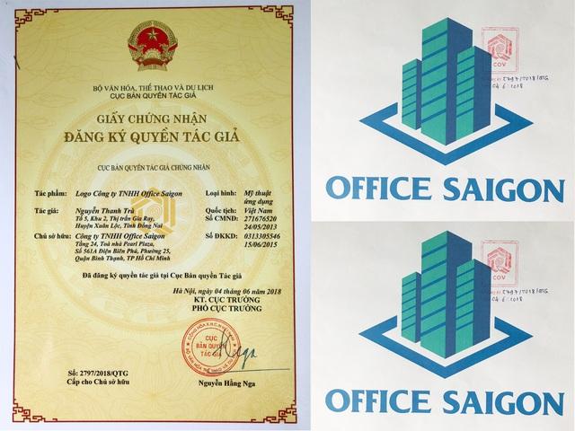 Office SaiGon đã đăng ký quyền tác giả 2018 nhằm khẳng định lòng tin với khách hàng một lần nữa