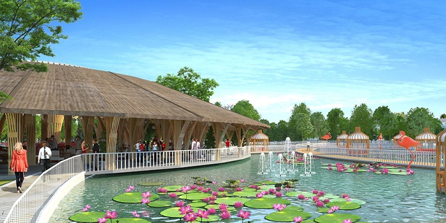 Lối kiến trúc thấp tầng nằm xen kẽ hệ thống hơn 20 tiện ích hiện đại tạo nên một cộng đồng Saigon Riverpark nhân văn và năng động