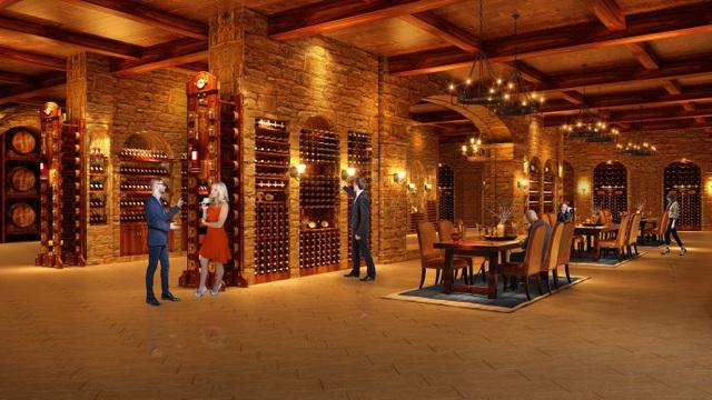 Hầm rượu sang trọng mang phong cách Châu Âu dành cho cư dân sành điệu