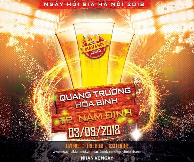 """""""Đại tiệc"""" Ngày hội Bia Hà Nội lần đầu tiên tổ chức tại Nam Định - 1"""
