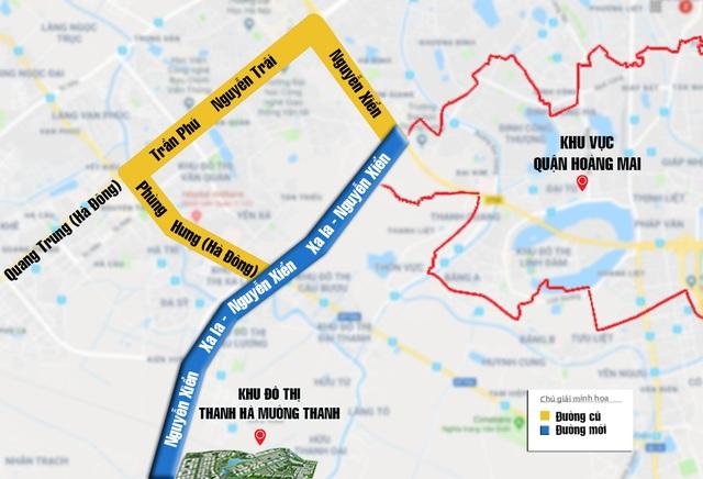 Tuyến đường Nguyễn Xiển – Xa La đi vào hoạt động sẽ rút ngắn đáng kể thời gian di chuyển từ các Quận Thanh Xuân, quận Hoàng Mai tới khu đô thị Thanh Hà – Mường Thanh (giảm được khoảng 20 phút di chuyển) và sẽ giúp giảm tải ùn tắc giao thông cho cung đường Phùng Hưng và Trần Phú - Nguyễn Trãi