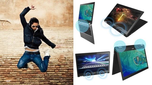 """Giải trí bất tận với laptop """"lai"""" máy tính bảng Acer Spin 3 - 2"""