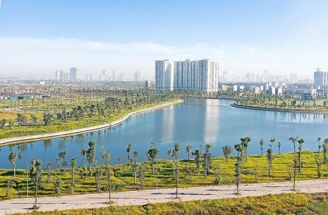 Hồ điều hòa rộng 15ha khu B đã được hoàn thiện