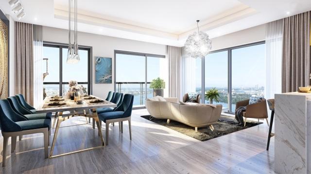 Thiết kế căn hộ thông minh từ một đến ba phòng ngủ tại tòa tháp Canary, 100% căn hộ có view sông tuyệt đẹp