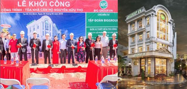 Big Group khởi công toà nhà căn hộ cho thuê ở đường Nguyễn Hữu Thọ, TP.HCM