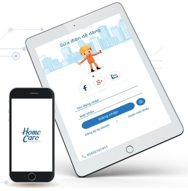 HomeCare: Ứng dụng đặt dịch vụ tư vấn, lắp đặt, sửa chữa hệ thống điện, chiếu sáng