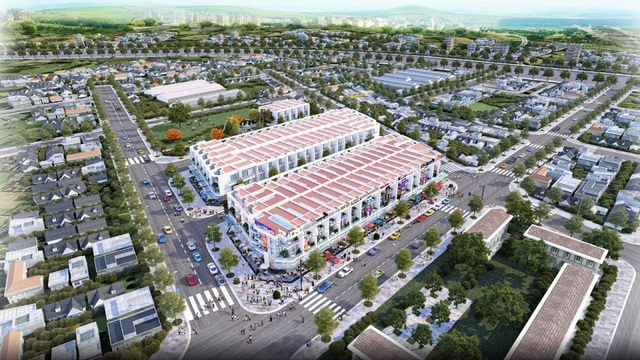 Khu phố thương mại Sunshine Residence tại phường Tam Hiệp, TP. Biên Hòa dù mới đang triển khai xây dựng nhưng không còn căn trống