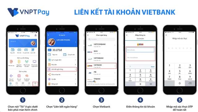 Hướng dẫn liên kết Ví VNPT Pay- Vietbank
