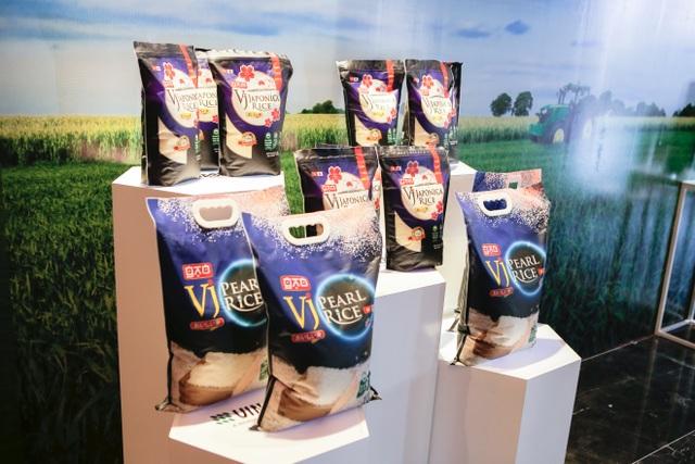 Thương hiệu gạo VJ Pearl Rice - sản phẩm gạo chất lượng cao được sản xuất từ giống lúa tốt nhất với công nghệ tiên tiến của Nhật Bản