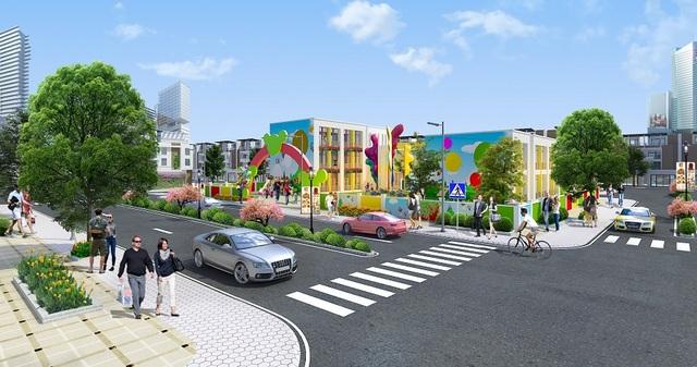 Phối cảnh trường học trong nội khu dự án Eco Town Long Thành.