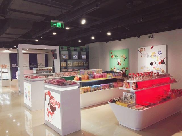 Các sản phẩm Hàn Quốc đạt chuẩn I'M STARTICE được trưng bày trong một cửa hàng ở Trung Quốc