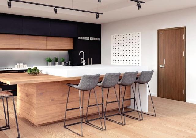 Sản phẩm cửa thép an toàn căn hộ vân gỗ