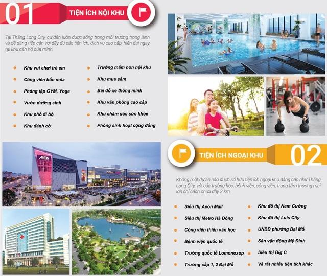 Thăng Long city ưu tiên phát triển tiện ích cộng đồng phục vụ cư dân.