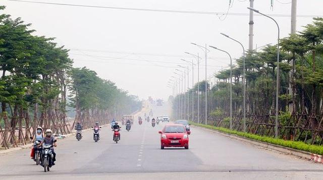 Tuyến đường trục dẫn vào khu đô thị đã hoàn thành