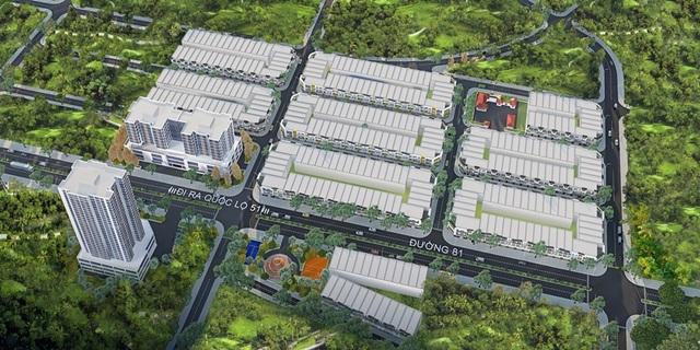Tổng thể dự án Khu nhà ở Ecotown Phú Mỹ có diện tích lên tới 6.3 hecta