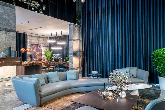 Bộ sofa mẫu mã mới nhất của Minotti với thiết kế cong độc đáo trị giá 1 tỷ đồng tại biệt thự đảo Ecopark Grand – The Island
