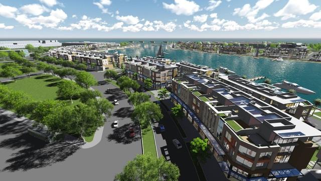 Hạ tầng phát triển là bàn đạp cho bất động sản tăng nhiệt – Ảnh thiết kế shophouse và mini hotel Tuần Châu Marina.