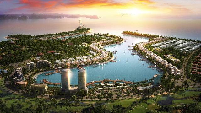 Tổng quan dự án Tuần Châu Marina với view trọn vẹn cảng Ngọc Châu, đồng thời là cửa ngõ mở ra di sản thế giới.