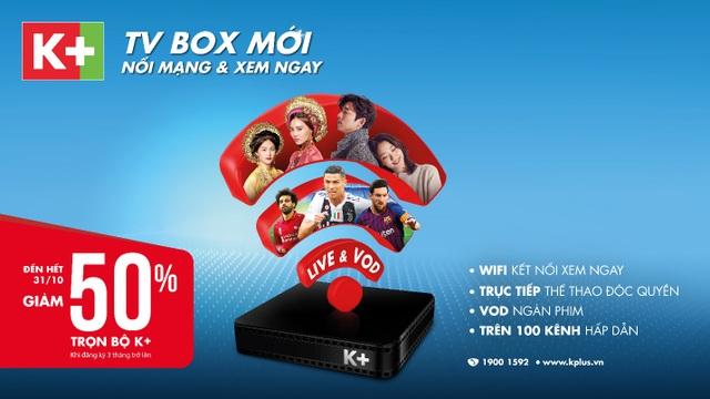 K+ TV Box giúp thưởng thức truyền hình bản quyền chất lượng cao với chi phí dễ chịu