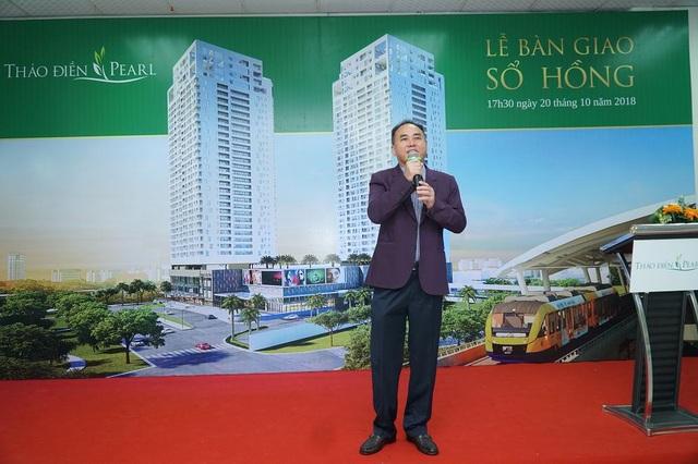 Ông Nguyễn Văn Đồi – Thành viên HĐQT, Giám đốc điều hành CTCP Địa Ốc và Xây Dựng SSG2, Chủ đầu tư Thảo Điền Pearl
