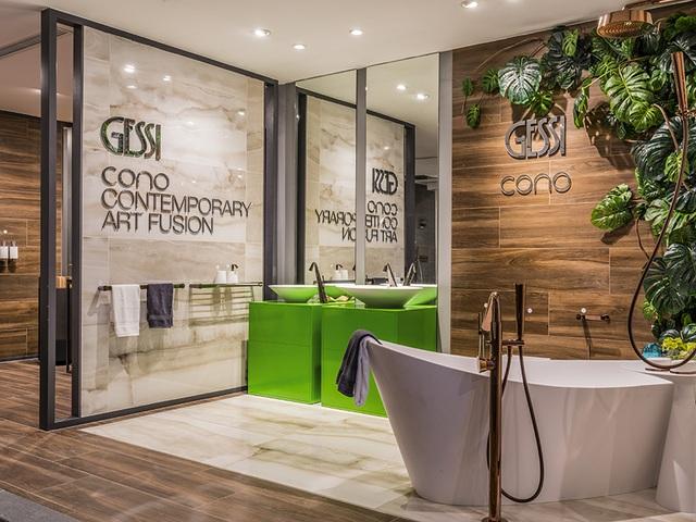 Thiết kế phòng tắm Cono (Gessi) với cảm hứng thiết kế hình nón ấn tượng,