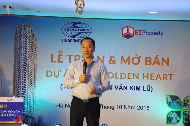 Ông Phạm Đức Toản - Giám đốc sản bất động sản EZ phát biểu tại buổi lễ